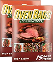30Counts Cooking Roasting Bags Suitable Size (12 x 15 Inch) Oven Bags for Chicken Meat Fish and Vegetable – THEAKO