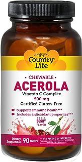 Acerola. vitamina C masticable. cereza. 500 mg. 90 Obleas - Vida en el campo