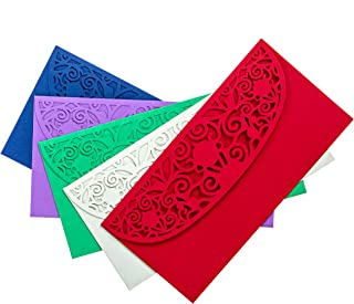 Beautiful Laser Cut Assorted Color Money Holders for Cash Gift for Christmas, Birthday, or Any Special Occasion