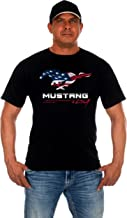 JH Design Men's Ford Mustang T-Shirt's in 8 Great Styles a Short Sleeve Crew Neck Shirt