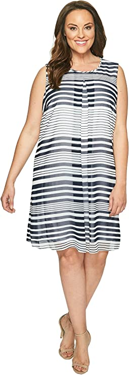 5187b02b02 Plus Size Cross-Front Taylor Dress. $50.99MSRP: $114.00. Twilight/Soft  White Multi
