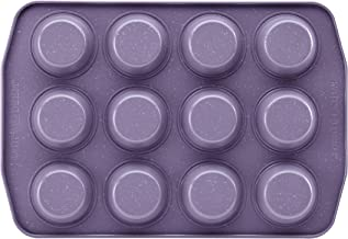 Paula Deen 12 Cup Nonstick Bakeware Muffin and Cupcake Pan, Lavender Speckle