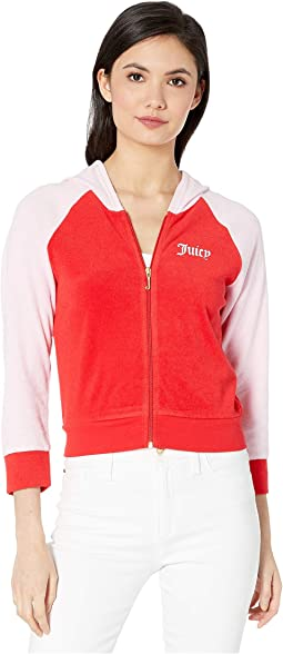 Juicy Color Block Microterry Logo Hood Jacket