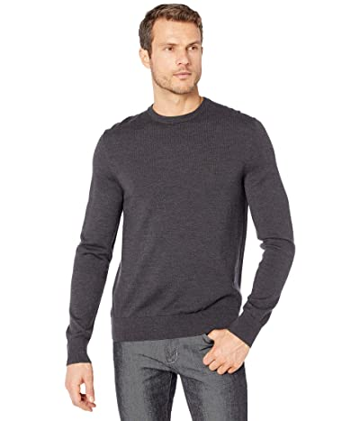 Calvin Klein Merino Crew Neck Sweater (Gunmetal Heather) Men