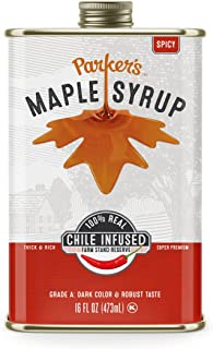 Parker's Real Maple Syrup, Spicy Chile Infused, 16 Ounce Tin