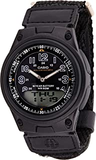 ساعة كاسيو للرجال AW-80V-1B- انالوج-رقمي، كاجوال