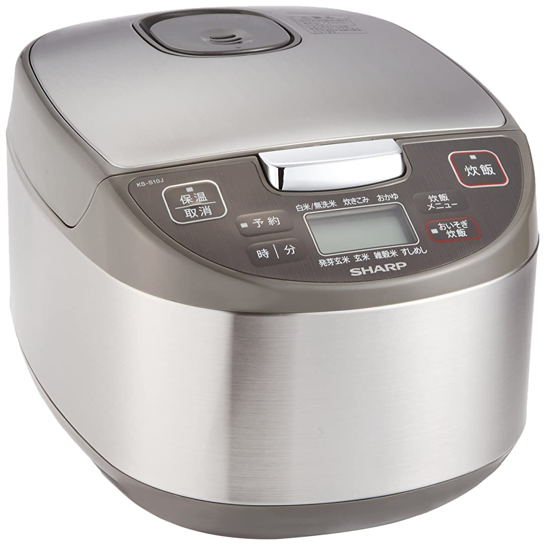 サイトライン蒸発するアラートシャープ 炊飯器 マイコン方式 5.5合 黒厚釜 球面炊き シルバー KS-S10J-S