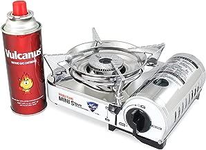 Vulcanus MS-8000 Mini Butane Gas Stove, Stainless Steel top plaet. 9.6