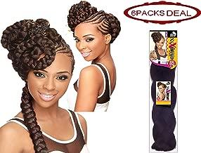 EVE HAIR 100% Kanekalon Afrelle Fiber Professional Jumbo Crochet X-Pression Braid Braiding Hair Extension, 85 Inches Synthetic Quick Braid - Color: M27-613 (Pack of 6)