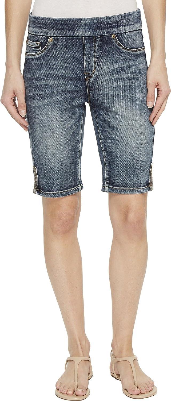 Tribal Women's Pull On Short with Side Leg Detail Denim