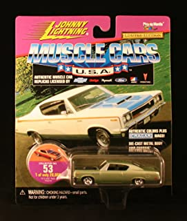 1970 AMC REBEL MACHINE * COLLECTOR NO. 53 * Johnny Lightning 1999 MUSCLE CARS U.S.A. COLLECTION 1:64 Scale Die Cast Vehicle * Limited Edition: 1 of only 20,000 *