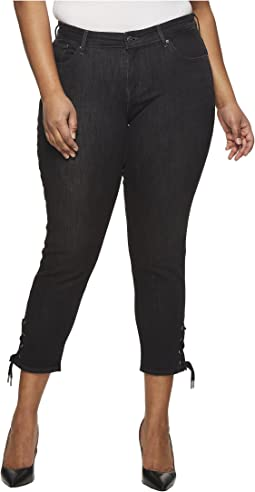 Levi's® Plus - 711 Ankle Skinny with Lace-Up