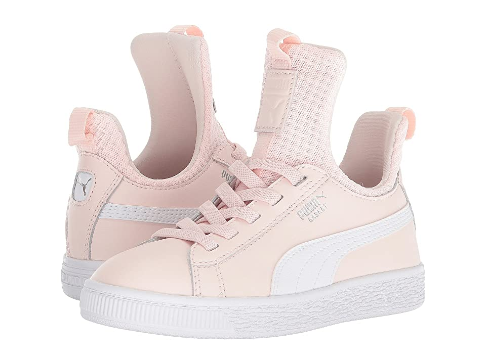 Puma Kids Basket Fierce EP AC (Little Kid) (Pearl/Puma White) Girls Shoes