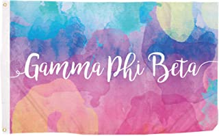 Desert Cactus Gamma Phi Beta Water Color Sorority Flag Greek Letter Use as a Banner Large 3 x 5 Feet Sign Decor