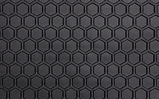 Intro-Tech Hexomat Front Row Custom Floor Mats for Select Dodge Dakota Pickup Models - Rubber-like Compound (Black)