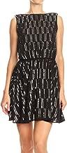 Anna-Kaci Womens Backless Sleeveless Sequin Stripe Mini Dress with Deep V Back
