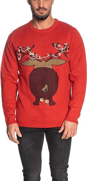 Rentier Rückseite Weihnachtspullover