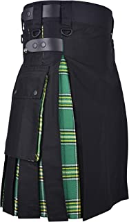 DSS KILT-Hybrid Black and Irish Green Utility Kilt