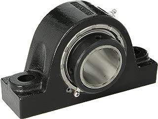 Link-Belt PB22435H Spherical Roller Bearing Pillow Block, 2 Bolt Holes, Relubricatable, Non-Expansion, Cast Iron, Setscrew Locking Collar, Inch, 2-3/16