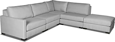 Outstanding Amazon Com Piano Leather Sectional Sleeper Sofa Left Pdpeps Interior Chair Design Pdpepsorg