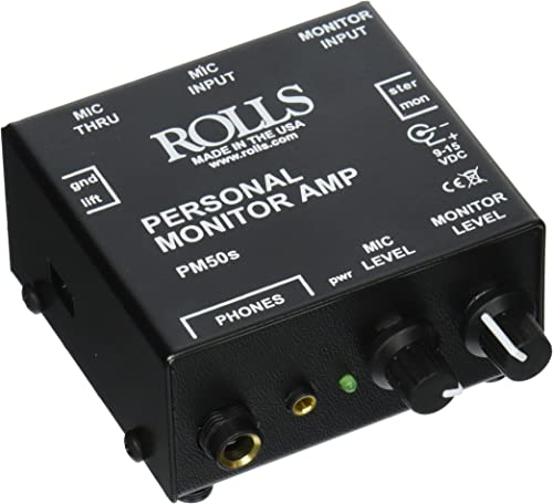Rolls PM50s Personal Monitor Amplifier , Black