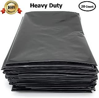 "Black Trash Bag 40-45 Gallon 32"" X 50"" X 3Mil, 20 Bags"