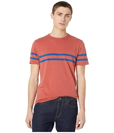 J.Crew Slub Jersey T-Shirt (Red/Blue Racing Stripe) Men