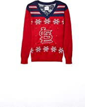 FOCO MLB Unisex Light UP V-Neck Sweater - Womens
