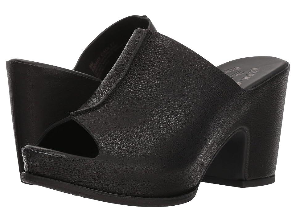 Kork-Ease Santa Ana (Black Full Grain Leather) High Heels
