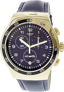 Swatch Golden Yacht YOG409 Gold Leather Quartz Fashion Watch