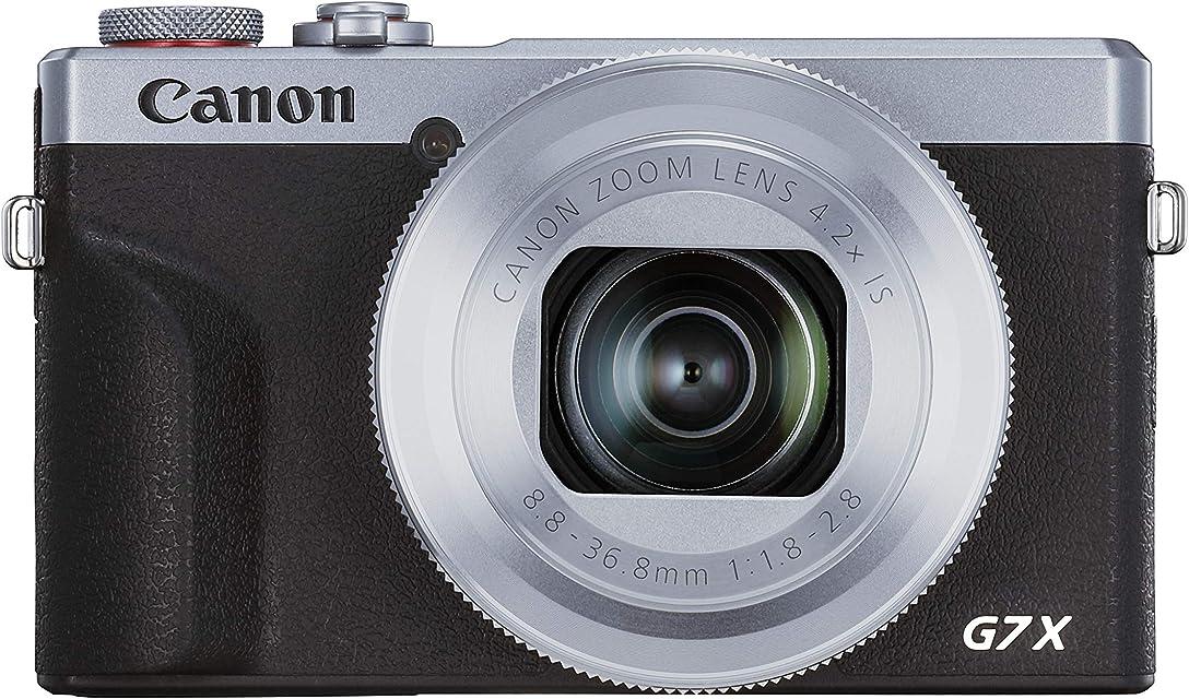 Canon Powershot G7 X Mark III 3638C002 - Cámara Digital (20.1 MP Pantalla Táctil LCD Plegable de 7.5 cm Pantalla Abatible WLAN Zoom de 4.2X 4K CMOS) Plata