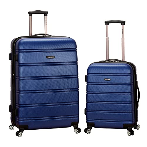 Rockland Melbourne Hardside Expandable Spinner Wheel Luggage, Blue, 2-Piece Set (20/28)