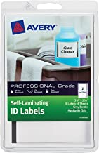 Avery Self-Laminating ID Labels, Handwrite, 3.75 x 2.75 Inches, Gray Border, Pack of 8 (00746)
