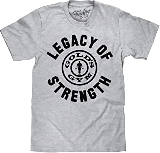 Gold's Gym Shirt - Legacy of Strength Strongman Logo Shirt