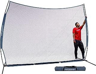PowerNet 12 ft x 9 ft Sports Barrier Net | 108 SqFt of Protection | Safety Backstop | Portable EZ Setup Barricade for Baseball, Lacrosse, Basketball, Soccer, Field Hockey, Softball