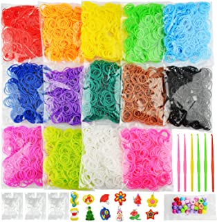 6900+ New Rubber Bands Bracelet Kit, 2021 New Loom Bands in 14 Colors- Great Gift for Handicraft Lovers & Kids. No Loom Bo...