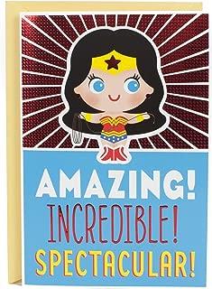Hallmark Birthday Card for Kids with Sound (Wonder Woman)