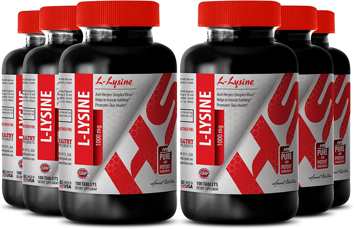 L-lysine Free shipping Bargain sale anywhere in the nation Pure Powder - L-LYSINE Supplement Support MG Ner 1000