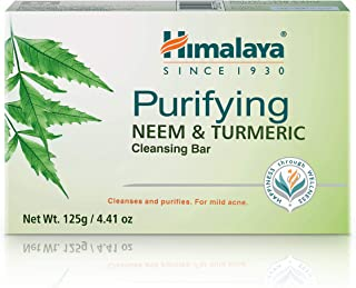 Himalaya Purifying Neem & Turmeric Cleansing Bar for Clean and Healthy Looking Skin, 4.41 Oz (125 gm)