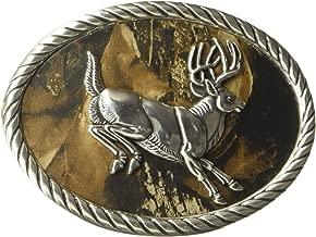 Nocona Men's Camo Deer Oval Buckle