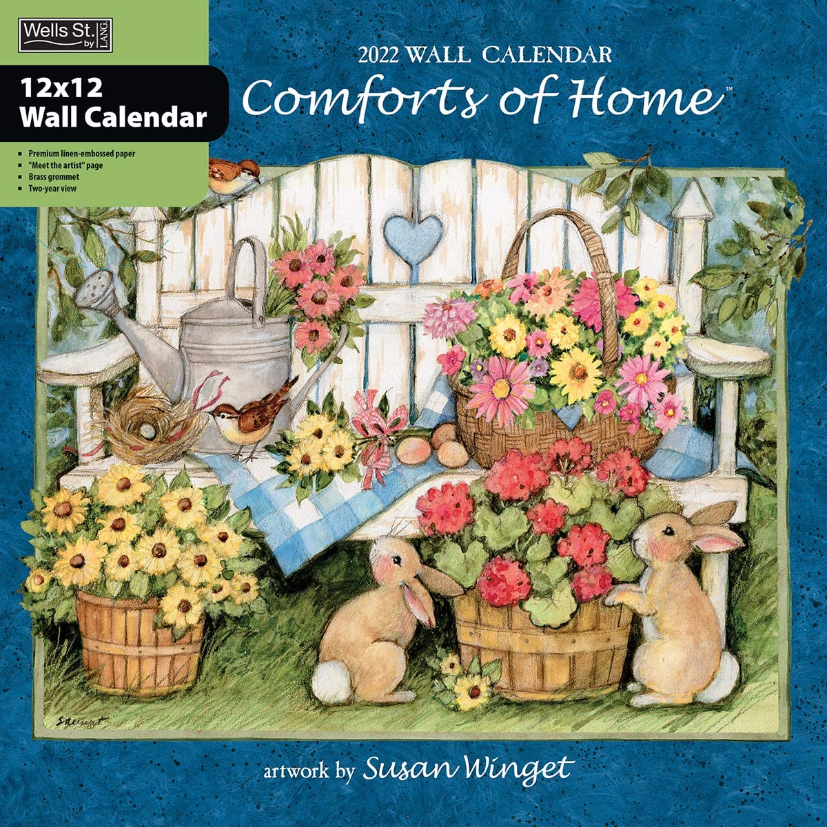WSBL Comforts of Home 2022 12X12 Wall Calendar (22997001724)