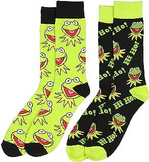 Disney The Muppets Hi Ho Kermit The Frog 2 Pair Crew Socks