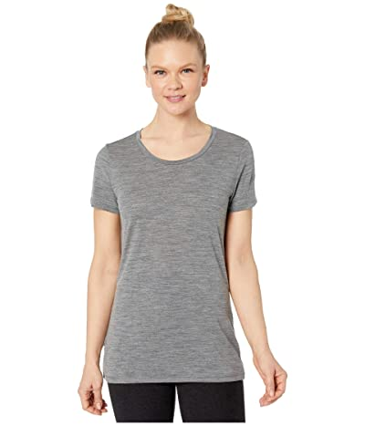 Icebreaker Tech Lite Merino Short Sleeve Low Crewe (Gritstone Heather 1) Women