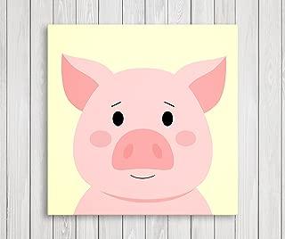 Cute Little Animals, Nursery Canvas Print Wall Decor, Baby Kid Room Canvas Art Print, Farm Animals Poster Wall Art Print, Great Set Idea - Ready to Hang (11