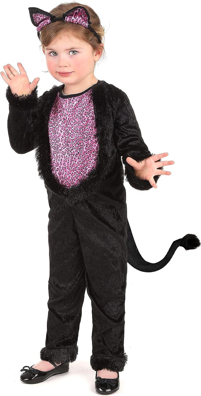 KULTFAKTOR GmbH Süßes Katzen-Kostüm für Mädchen