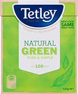 Tetley Natural Green Pure and Simple Teabags, 100 Count