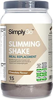 High Protein Slimming Shake for Weight Loss | Meal Replacement Powder Suitable for Men & Women | Chocolate Flavour Made in The UK