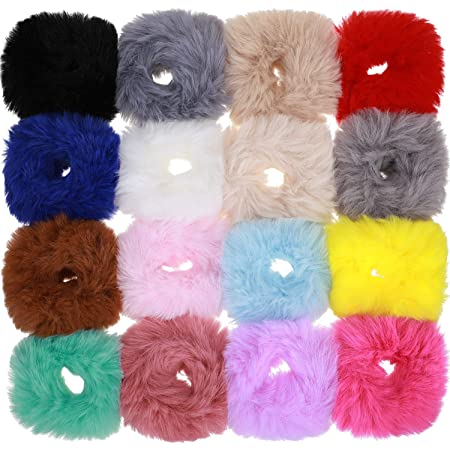 Packung mit 10 Womens Fleece Hair Scrunchies Elastics Bobbles Haarbänder