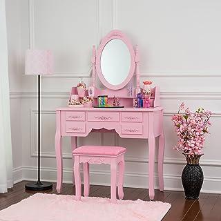 Amazon.com: Pink - Vanities & Vanity Benches / Bedroom ...