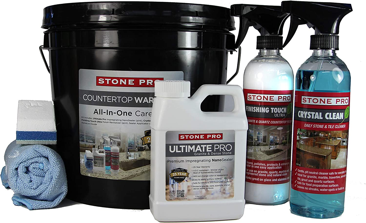Stone Max 73% OFF Bombing new work Pro Granite Care Kit - Clean G Polish Ultimate Seal